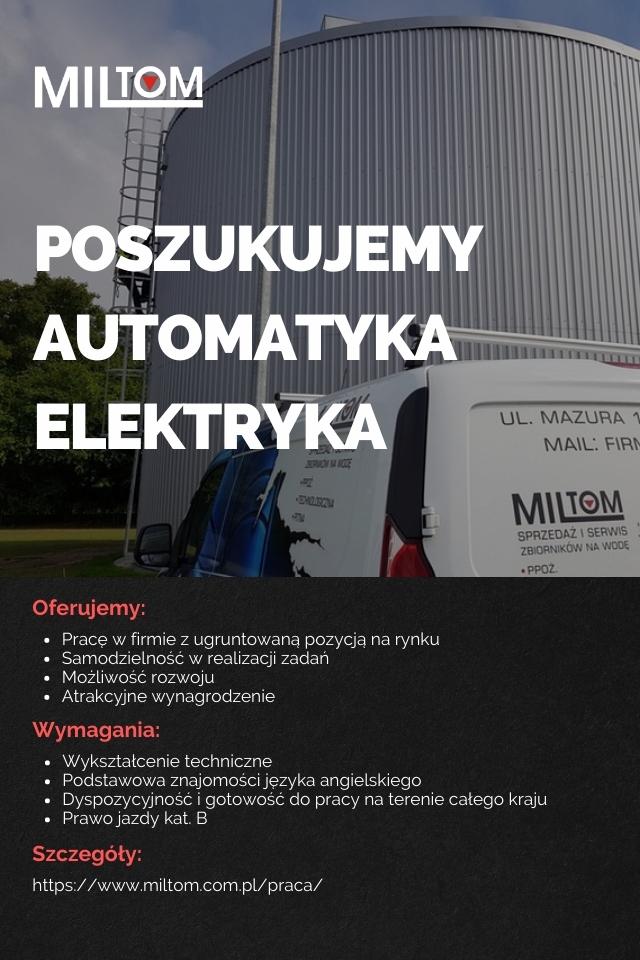 Oferta pracy - automatyk / elektryk